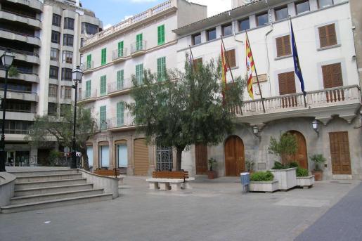 Plaza de España donde sita el Ajuntament d'Inca
