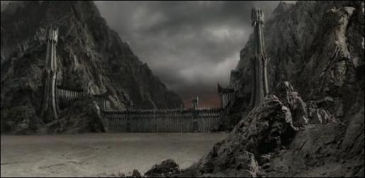Imagen de Mordor de una de la película de 'El señor de los anillos'.