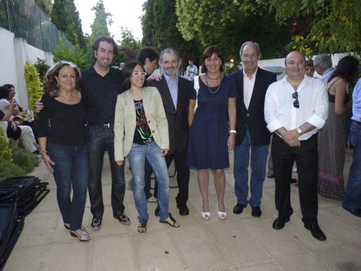 Miquela Lladó, Pere Joan Martorell, Alicia Beltrán, Jaume Mateu, Francina Armengol, Simón Andreu y Josep Lluís Aguiló.