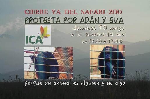 Cartel de la protesta.