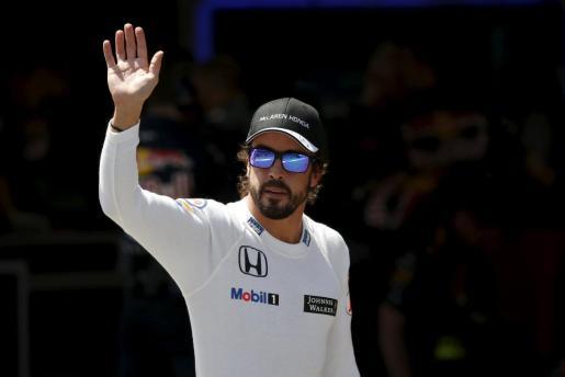 El español Fernando Alonso, tras la sesión de clasificación del Gran Premio de España.