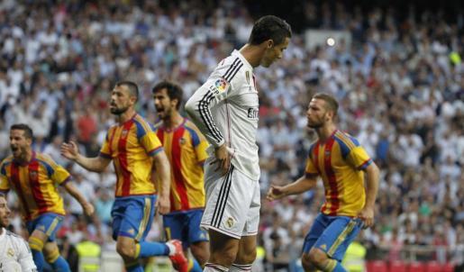 El delantero portugués del Real Madrid Cristiano Ronaldo durante el partido.