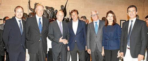 Antoni Serra, Álvaro Middelmann, Carlos Egea, Mateo Isern, Josep Lluís Roses, Maria Antònia Garcias y Gabriel Company.
