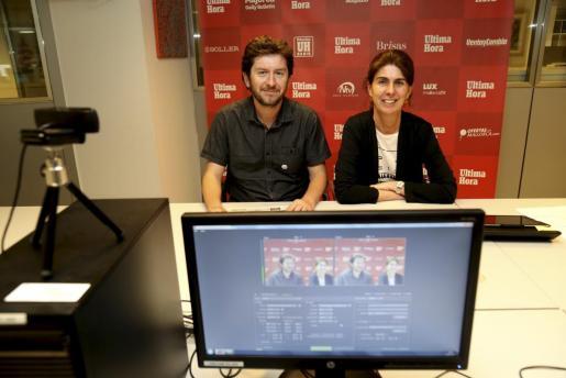 Alberto Jarabo durante el videochat de Ultimahora.es, junto a la responsable de esta plataforma digital, Ángela Moreda.