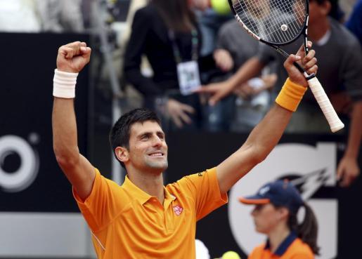 Novak Djokovic celebra su triunfo ante David Ferrer.
