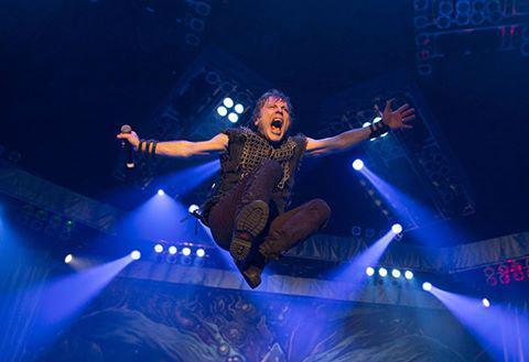 El vocalista de Iron Maiden, Bruce Dickinson.