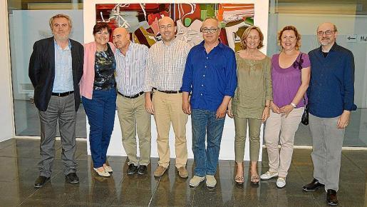 Biel Amer, Aina Aguiló, Joan Bennàssar, Joan Enric Capellà, Joan Sastre, Cristina Escape, Lourdes Aguiló y Carles Bona.