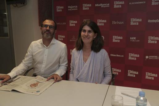 Biel Barceló durante el videochat de Ultimahora.es. El encuentro fue moderado por la responsable de esta plataforma digital, Ángela Moreda,