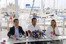 Pablo Casado, José Ramón Bauzá y María Salom