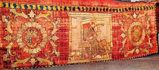 Un frontal del altar del siglo XV de Santa Elisabet de gran valor histórico. Foto: D.G. MURRAY