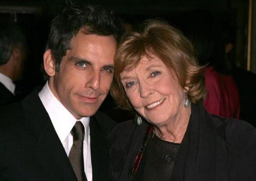 Anne Meara y su hijo Ben Stiller.