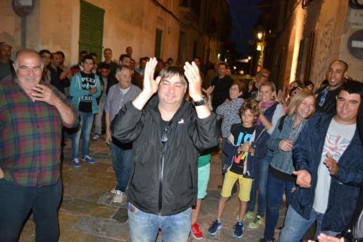 Joan Verger 'Matxo' fue recibido con aplausos a su llegada a la plaza el pasado domingo.