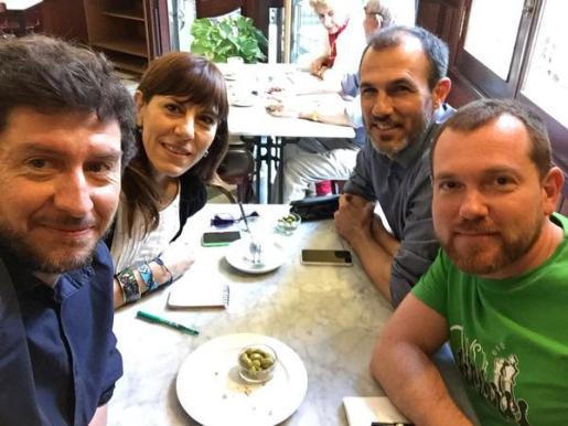 Alberto Jarabo, Laura Camargo, Biel Barceló y David Abril, esta mañana.