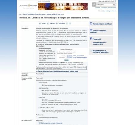 Página web del Ajuntament de Palma.