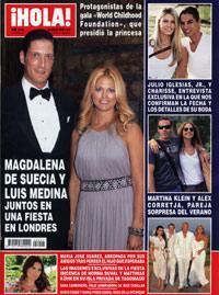 La revista 'Hola' recoge en su portada la fiesta de Matthias Kühn y Norma Duval en Tagomago.