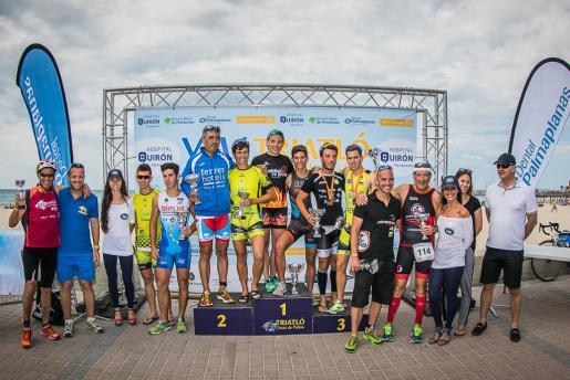 Foto de los ganadores de la XIV Triatló Ciutat de Palma.