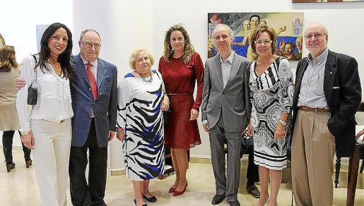"""Carmela Santonastaso, Joan Oliver """"Maneu"""", María Magdalena Torres, Rosa Vanrell, Ramon Trias, Juanita Pons y Miquel Trias Gusó."""