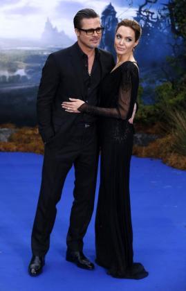 Los actores Brad Pitt y Angelina Jolie durante la promoción de la película 'Maléfica' protagonizada por la actriz.