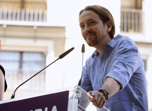 El secretario general de Podemos, Pablo Iglesias, el pasado domingo en Toledo.