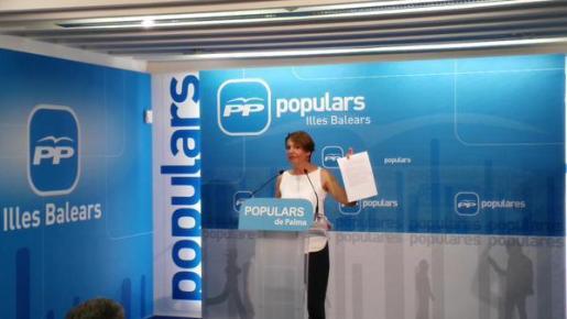 Marga Durán, durante la rueda de prensa.