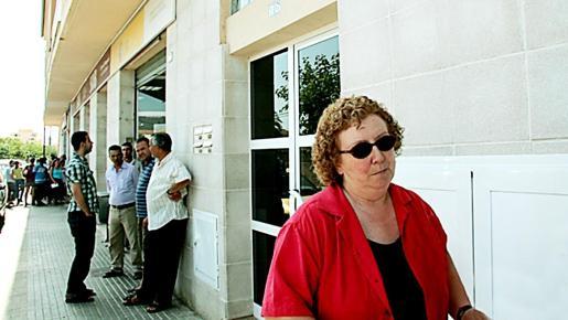 Ordinas, a su salida de la oficina del SOIB de Inca.