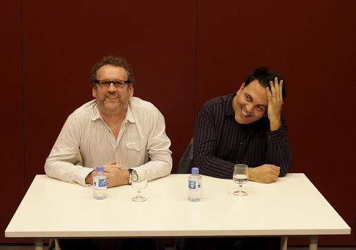 Imagen de archivo del actor irlandés Colm Meaney y el cineasta Toni Bestard, en Palma.