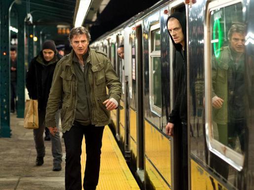 El actor Liam Neeson, en un rodaje.