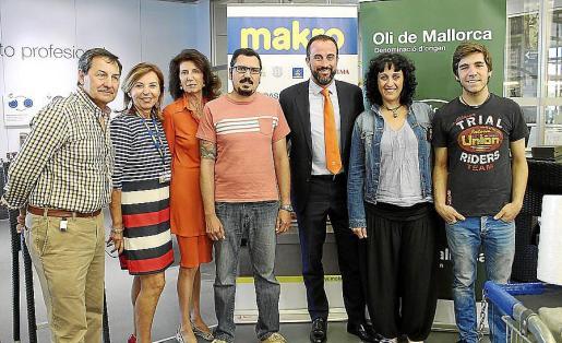 Josep Oliver, Carmen Bañobre, Carmen Planas, José Cortés, José Luis Mateo, María Salinas y Matthias Huber.