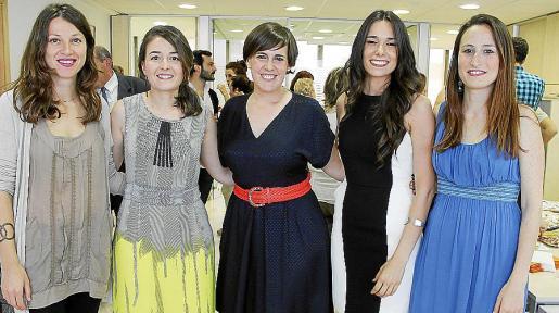 Neus Llabrés, Marilen Galcerán, Paola Obrador, Violeta Colmenero y Beatriz Pérez-Gil.