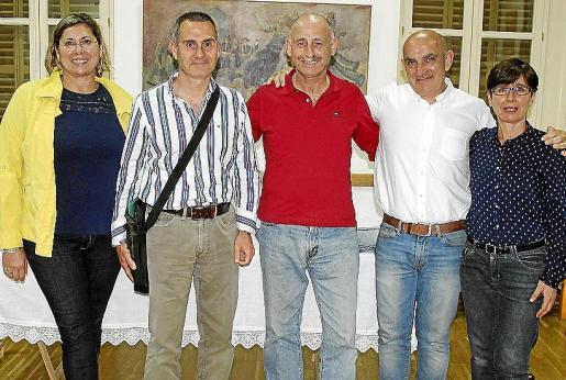 Catín Luna, Santi Adrover, Biel Frontera, Tomeu Arbona y Mª José Orero.
