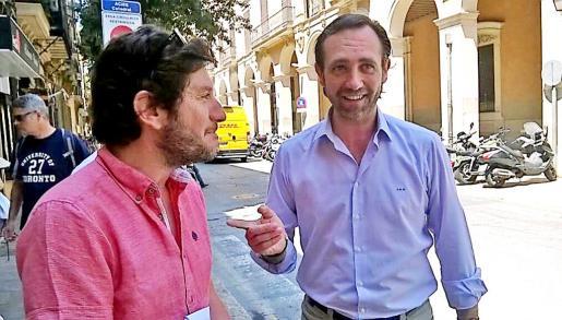Alberto Jarabo coincidió este martes con el president en funciones José Ramón Bauzá.