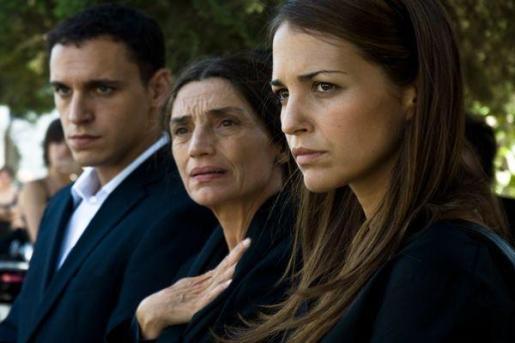 Los tres miembros de la familia Reverte.