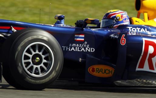 Mark Webber ha obtenido el primer puesto en los entrenamientos libres del circuito de Silverston.