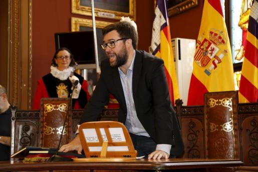 Antoni Noguera durante la jura del cargo.