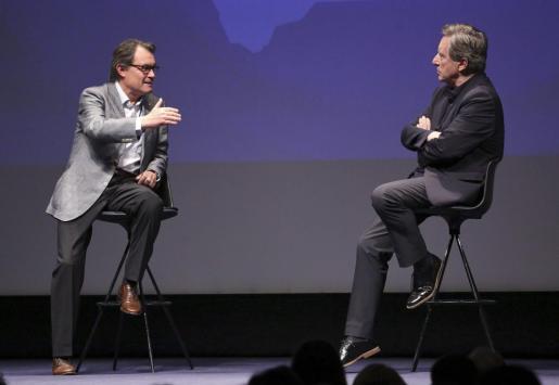 Artur Mas durante una conversación con el periodista Iñaki Gabilondo. Foto: Jordi Bedmar Pascual