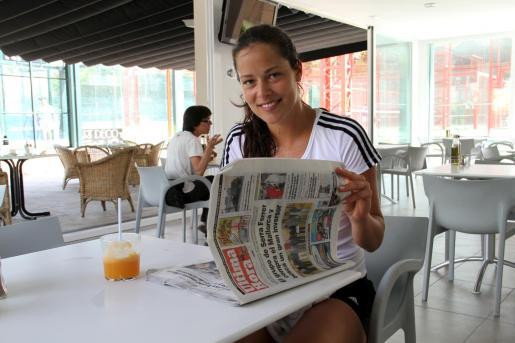 Ana Ivanovic, en las instalaciones deportivas donde entrena cada día cuando está en Mallorca.