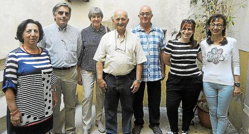 Maria Barceló, Toni Planas, Raymonde Calbo, Demetrio Peña, Baltasar Herrero, Carme Colom y Magdalena Sastre.