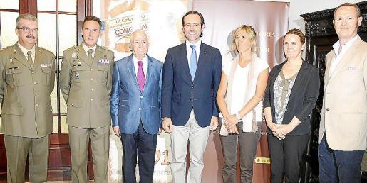 Teodoro Pou, Fernando Aznar, Jesús Rodríguez, José Ramón Bauzá, Teresa Palmer, Maria Salom y Javier Rodríguez.