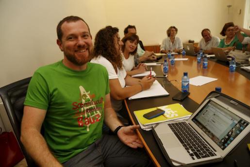 David Abril, durante una de las pasadas reuniones.