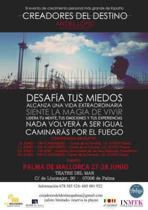 Cartel del evento de crecimiento personal más importante de España.
