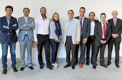 Miguel Vera, Luis de la Guardia, José Luis Mateo, Lourdes Amer, Salvador Servera, Jordi Mora, Miquel Rubí, Luis Couceiro y Pere Comas.