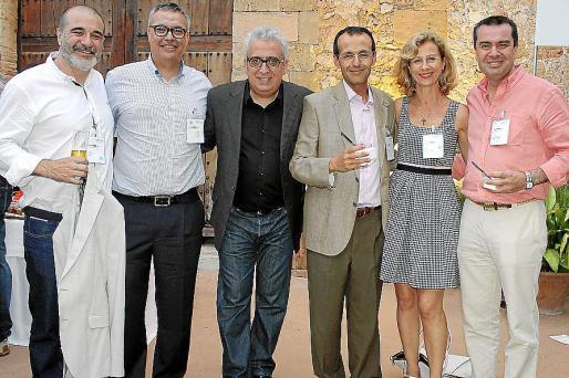 Joaquín Perurena, Toni Llabrés, Leo Harlem, Guillermo Miralles, Heidi Stadler y Jorge Díaz-Toledo.