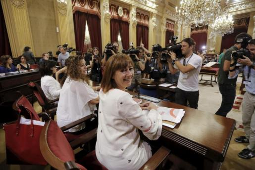 Francina Armengol, en la constitución del nuevo Parlament balear.