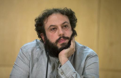 Guillermo Zapata, el día que renunció a ser concejal de Cultura del Ayuntamiento de Madrid.