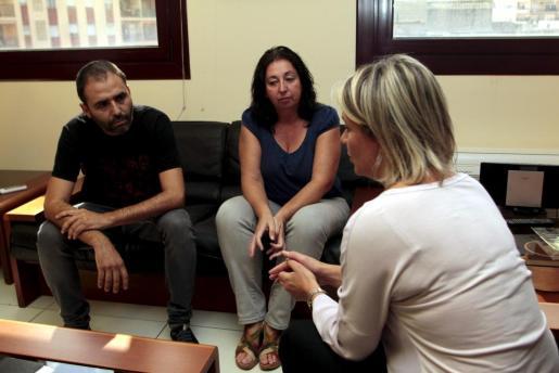 Representantes del sindicato con la consellera de Educació, Núria Riera.