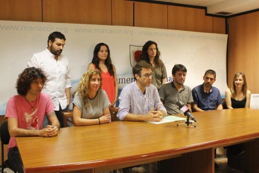 Momento de la presentación del nuevo equipo de gobierno del Ajuntament de Manacor.