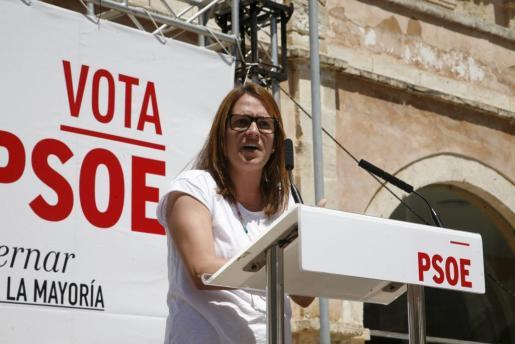 El escenario político aún es tenso en Menorca. En la imagen Susana Mora, candidata socialista al Consell insular.
