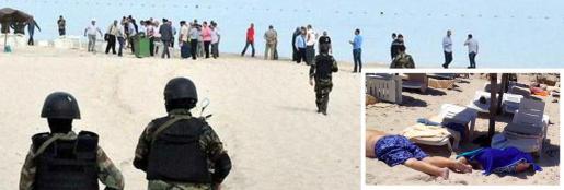 Los militares han accedido al hotel de RIU en Túnez desde la playa, donde han localizado algunos cadáveres.