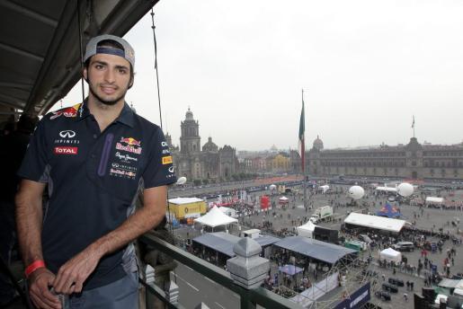 El español Carlos Sainz Jr., piloto de la escudería Toro Rosso, en Ciudad de México.