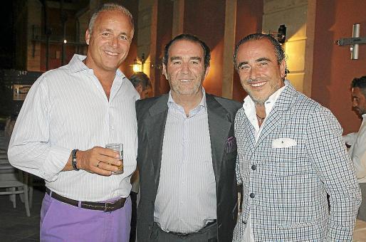 Jordi Tarrida, Fernando Castellanos y Pedro Mesquida.